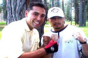 Frankie and Oscar De la Hoya